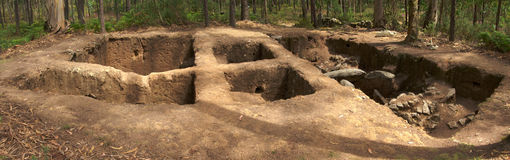 Dolmen del sito di Arribada o di Cruzinha Esposende, Portogallo Fotografia Stock Libera da Diritti