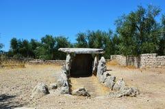 Dolmen della Chianca in Bisceglie-Stadt, Apulien, Italien stockbild