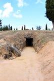 Dolmen di EL Romeral vicino a Antequera, Spagna Fotografie Stock
