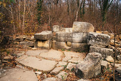 Dolmen di pietra antico, Russia Immagini Stock