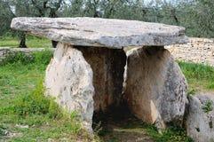Dolmen förhistoriska Bisceglie Arkivfoton