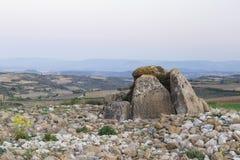 Dolmen genannter Alto de la Huesera, Spanien lizenzfreie stockfotografie