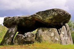 Dolmen. Historical ancient monument known as Anta or Dolmen in Portugal. The precursors of our houses Royalty Free Stock Image