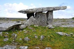 Dolmen, Ireland. Dolmen Ireland rock history goltic Stock Photography
