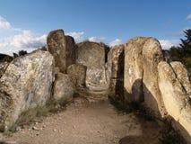 Dolmen of Mina de Farangortea Stock Photos