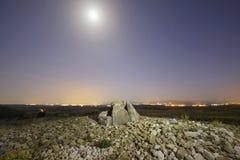 Dolmen nannte Alto de la Huesera, in Laguardia, Alava, Spanien stockbild