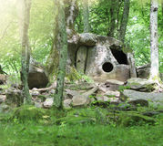 Dolmen near Gelendjik royalty free stock photo