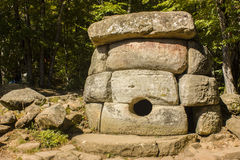 Dolmen, North Caucasus, Russia Royalty Free Stock Image