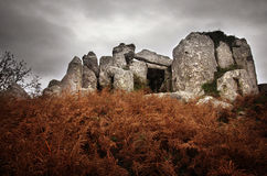 Dolmen. Prehistorical granite dolmen, temple of the dead, in Sintra Portugal Royalty Free Stock Photography