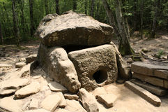 Dolmen on the River Janet, 3-2 thousand BC Royalty Free Stock Image