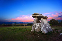 Dolmen of Sorginetxe Royalty Free Stock Photo