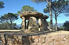 Dolmen of Vallgorguina-Barcelona royalty free stock photography