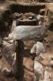 Dolmen van de frontale mening van Cruzinha of van Arribada Esposende, Portugal royalty-vrije stock foto's