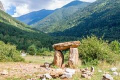 Dolmen w Hiszpańskich Pyrenees Zdjęcia Stock