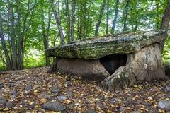 Dolmen w lesie Obraz Royalty Free