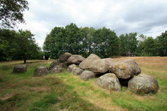 Dolmen. 5000 year old Dolmen, a megalithic tomb and the oldest structure in The Netherlands Royalty Free Stock Photography