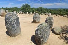 Dolmens. Almendres Cromlech in Evora, Portugal Stock Photography