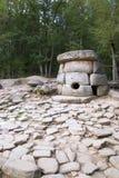 Dolmens. Feito da pedra 5000 anos há. Fotografia de Stock
