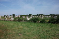 Dolmens and Menhirs of Carnac (Bretagne, France) Stock Image