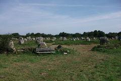 Dolmens and Menhirs of Carnac (Bretagne, France) Royalty Free Stock Images