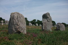Dolmens and Menhirs of Carnac (Bretagne, France) Stock Photo