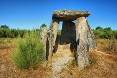 Dolmenu Pedra da orki em Gouveia Zdjęcia Stock