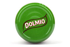 Dolmio logo på en produkt Arkivbild