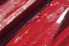 dolna czerwony rdzewiejąca łodzi Zdjęcia Stock