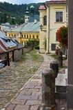 Dolna Ruzova gata på Banska Stiavnica Fotografering för Bildbyråer