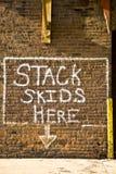 dolna signage technika Obrazy Stock
