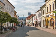 Dolna street in Banska Bystrica, Slovakia. Stock Photo