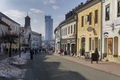 Dolna ulicagata i Banska Bystrica Arkivbild