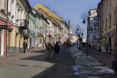 Dolna ulicagata i Banska Bystrica Arkivfoton