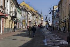 Dolna ulicy ulica w Banska Bystrica Zdjęcia Stock