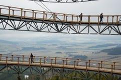 Dolni Morava, repubblica Ceca - 5 dicembre 2015: Passeggiata del cielo Fotografia Stock