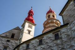 Dolny widok Nachod kasztel w republika czech zdjęcie royalty free