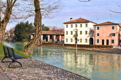 Dolo, Venezia. Dolo, Venice, Italy: Along Brenta River royalty free stock image