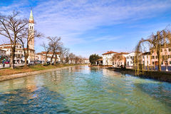 Dolo, Venezia. Dolo, Venice, Italy: Along Brenta River Stock Photo