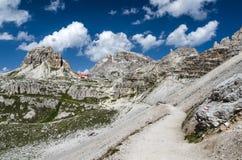 Dolomías de Sexten en el Tyrol del sur, Italia Imagen de archivo libre de regalías