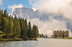 Dolomías en las nubes Foto de archivo libre de regalías