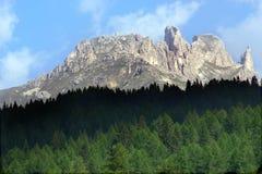 Dolomías, San Pellegrino, Italia imagen de archivo