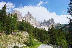 Dolomia, alpi italiane Fotografia Stock