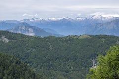 Dolomia, alpi italiane con le viste stupefacenti Fotografia Stock Libera da Diritti