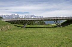 Dolomia, alpi italiane, valle e montagne Fotografie Stock Libere da Diritti