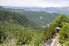 Dolomia, alpi italiane, vista panoramica Fotografie Stock