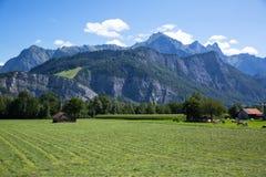 Dolomia Apls, panorama della Svizzera Paesaggio delle alpi delle dolomia, Immagini Stock