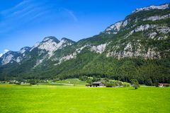 Dolomia Apls, panorama della Svizzera Paesaggio delle alpi delle dolomia, Immagine Stock