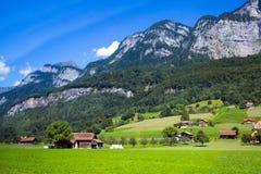 Dolomia Apls, panorama della Svizzera Paesaggio delle alpi delle dolomia, Fotografie Stock Libere da Diritti