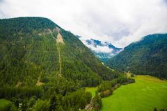 Dolomia Apls, panorama della Svizzera Paesaggio delle alpi delle dolomia, Immagini Stock Libere da Diritti