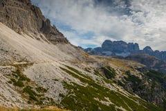 Dolomia in autunno, montagna del sud del Tirolo, turismo di Italien Fotografia Stock